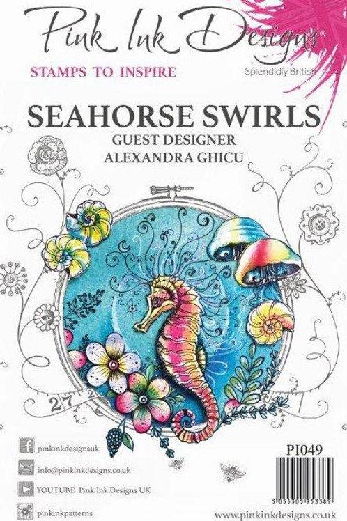 Pink ink - Seahorse Swirls