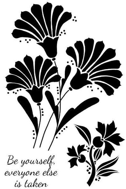 Woodware - Clear stamp - Fan Flowers