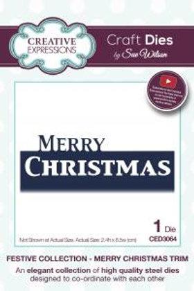 Sue Wilson Die  - Merry Christmas