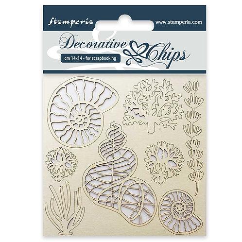 Decorative Chips - Shells -14cmx14cm