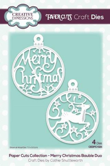 Paper Cuts Collection - Merry Christmas Bauble