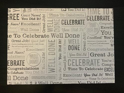 A4 Card- SALE - Congratulations