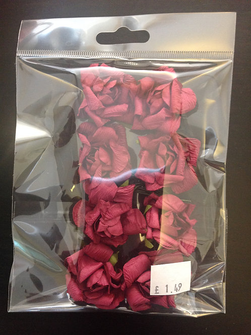 8 Pack Of Paper Flowers