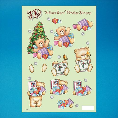 Foiled - Diecut - A4 Sheet - Christmas