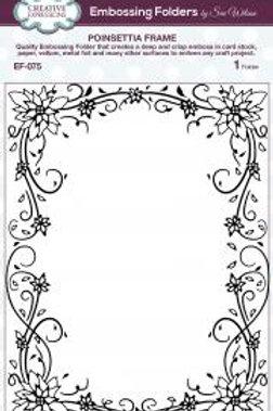 Embossing Folder - Poinsettia Frame