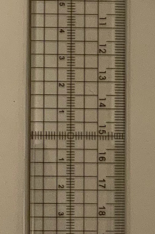 Metal edge ruler