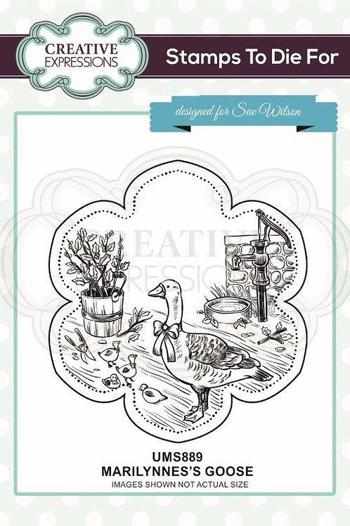 Marilynne's - Goose Rubber Stamp