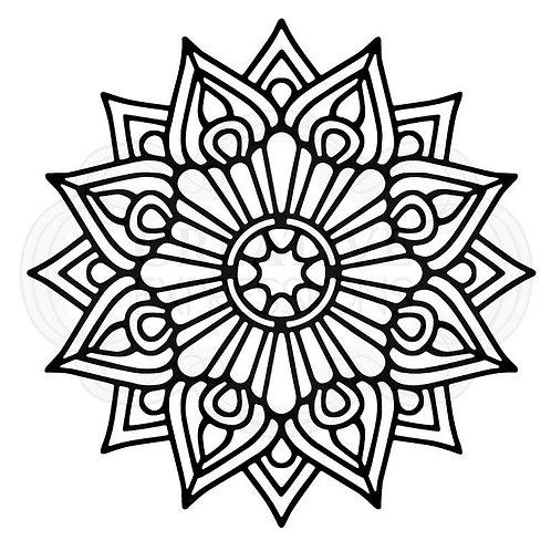 """Mandala 6.8""""x6.8"""" stencil"""