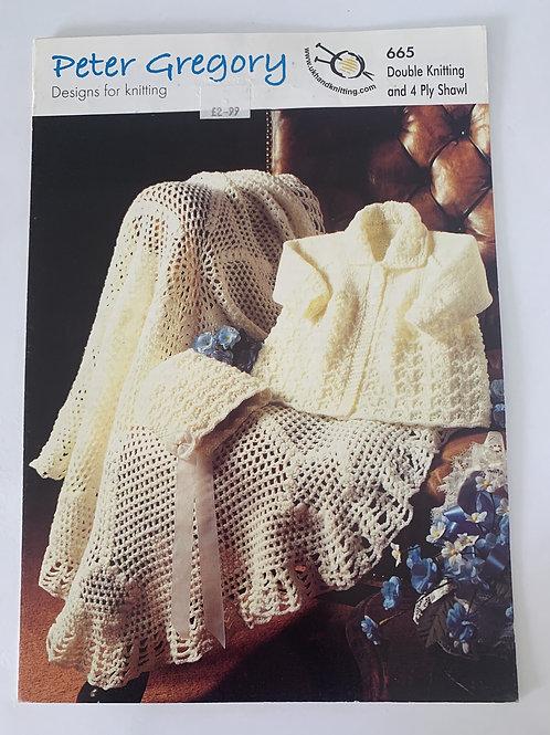 DK & 4ply Baby Shawl & Cardigan Pattern