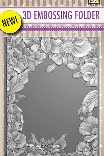 Flower Frame - 3D Embossing Folder