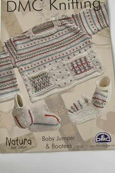 Baby DMC Cotton Jumper & Bootees Pattern
