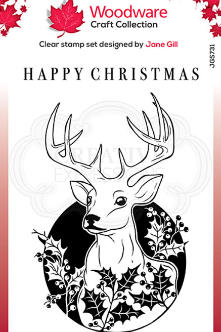 Woodware - Clear Stamp - Circle Deer