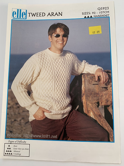 Aran Tweed Mens Jumper Pattern