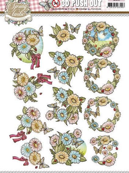 Spring flowers - Die Cut Decoupage Sheet