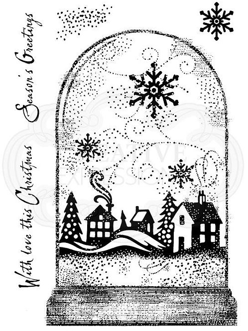 Snow globe - Clear Stamp