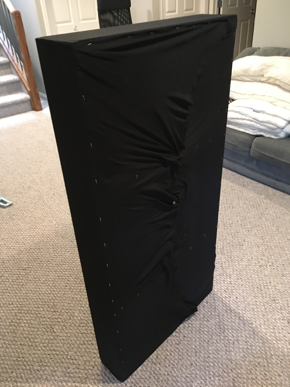 Wrapped in the back of Panel