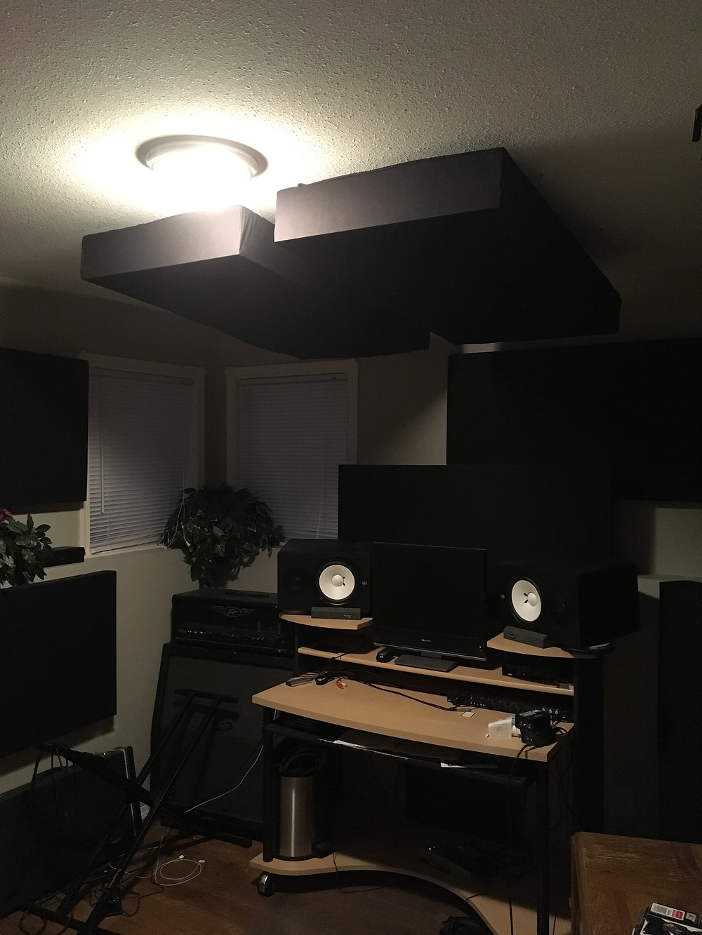 Acoustic Panel Clouds over Desk