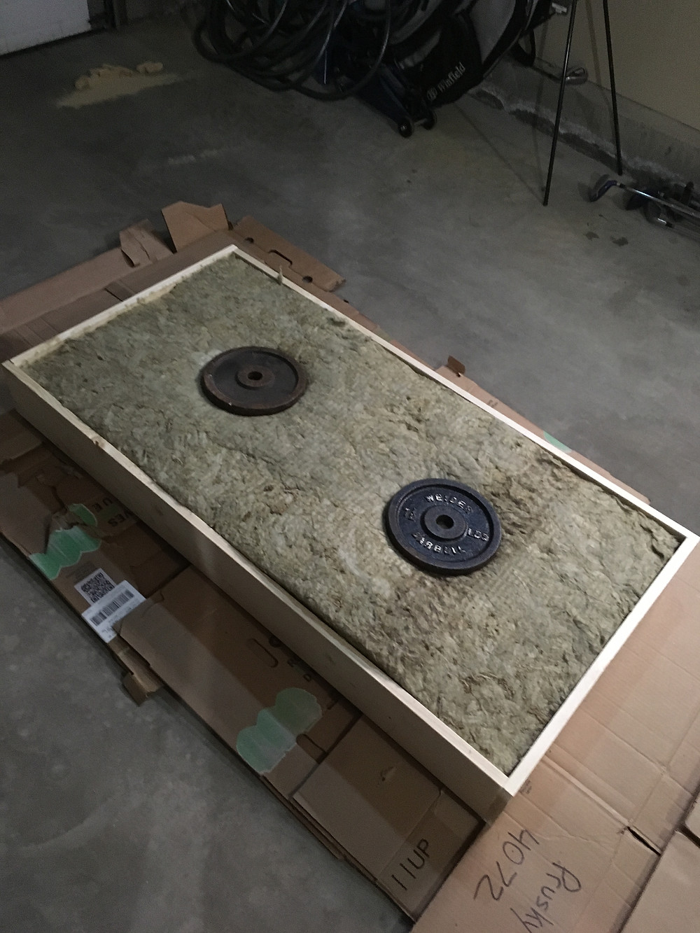Insulation in Acoustic Panel