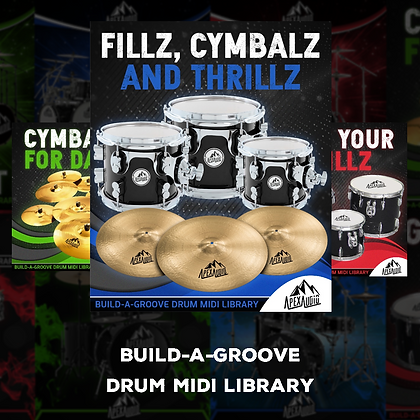 CYMBALS, FILLZ, AND THRILLZ - BUILD-A-GROOVE DRUM MIDI LIBRARY