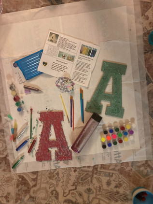 Anjali's finished project.