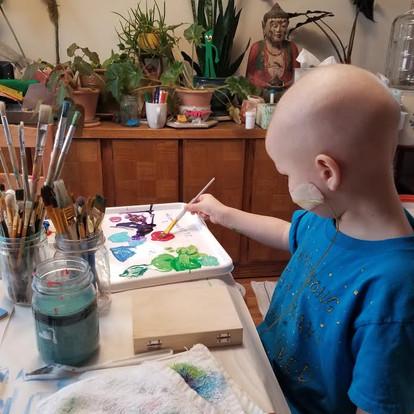Brian, artist at work.