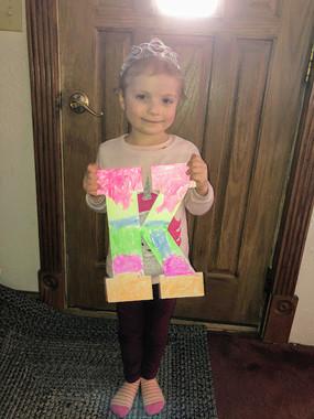 Keely displaying her her art!.jpg