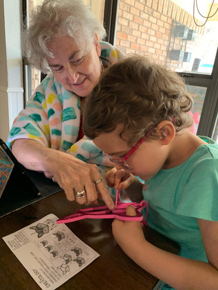 Adaleigh and her Grandma get right to work_