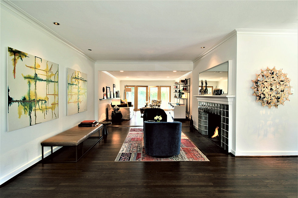 living room. 1939 BUNGALOW TRANSFORMED romero   obeji interior design
