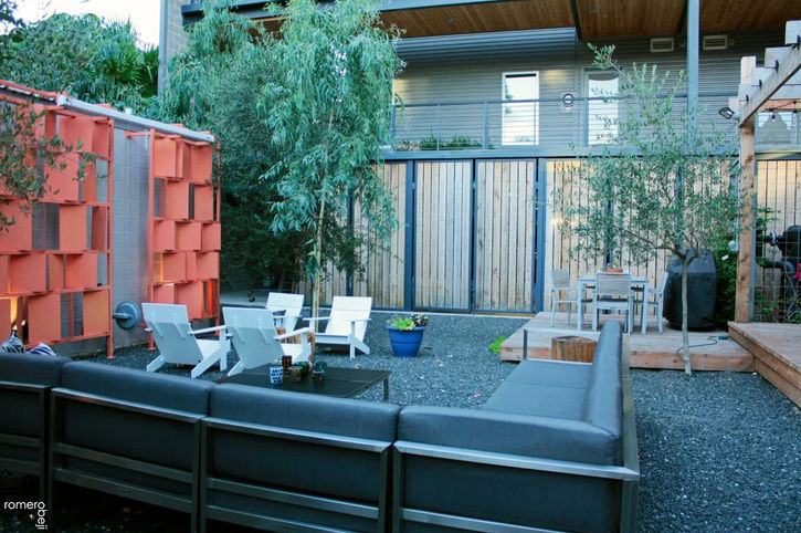 after outdoor urban modern courtyard