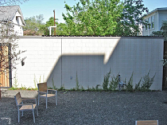 before outdoor urban modern courtyard