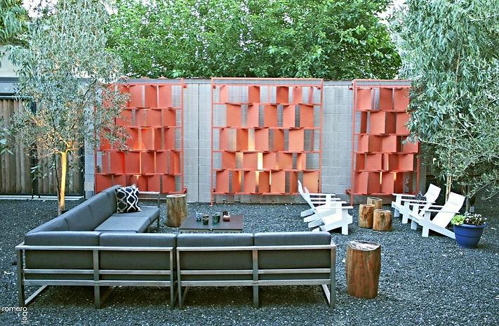 after outdoor urban modern courtyard