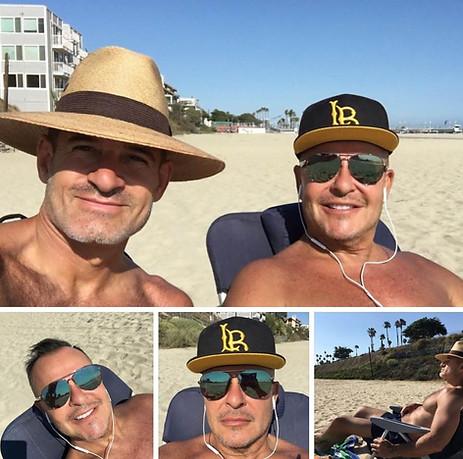 Getting sun Long Beach.