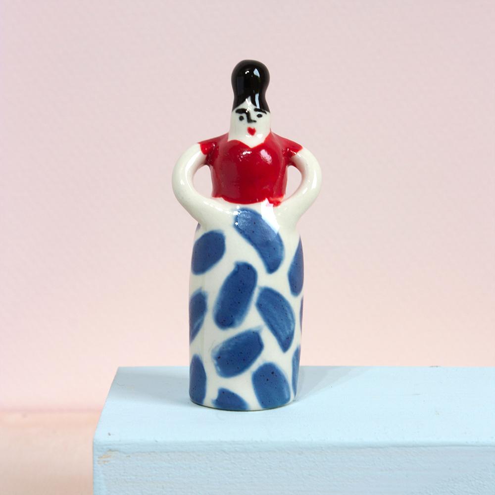 Ellen Hayward Mini Lady Red & Blue 1a