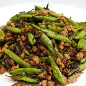 欖菜肉鬆四季豆