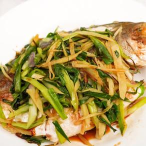 薑蔥煎鯧魚