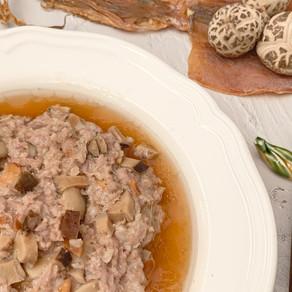 土魷冬菇蒸肉餅