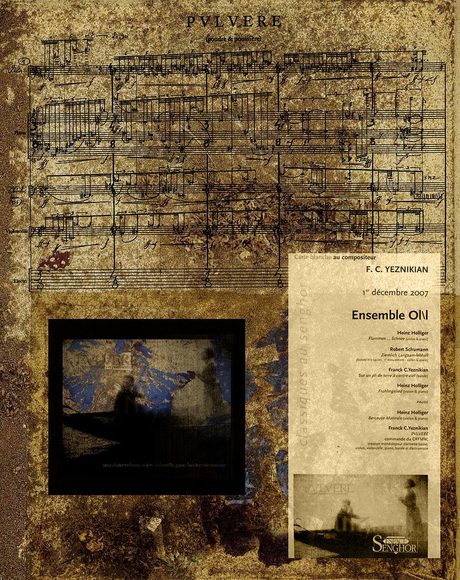 Franck Yeznikian   PVLVERE Pulvere Rilke Didi-Huberman Schumann Dreyer Vampyr Schumann