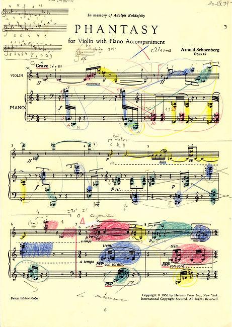 Franck Yeznikian   Schoenberg 47 Le Visage entre les draps
