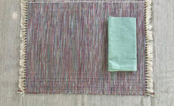 Green water placemat and napkin