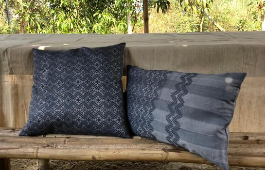 Coussins Katchin  40x40 couleur gris  30x50 couleur gris