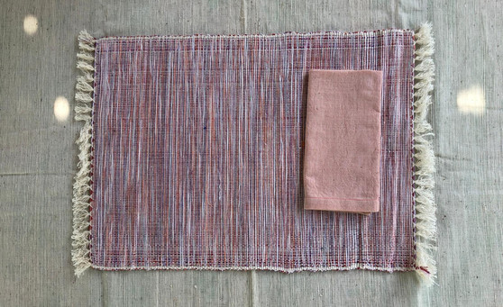 Apricot placemat & napkin
