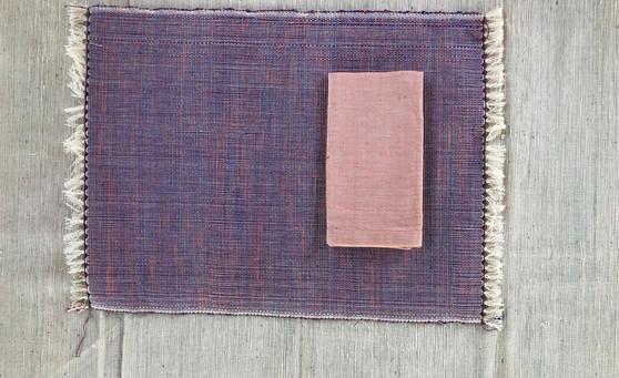 Placemat & napkin Lavende & Apricot