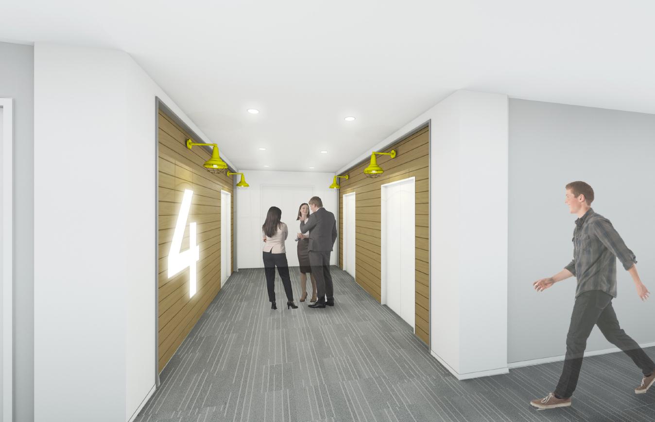 Building 44 Typical Elevator Corridor