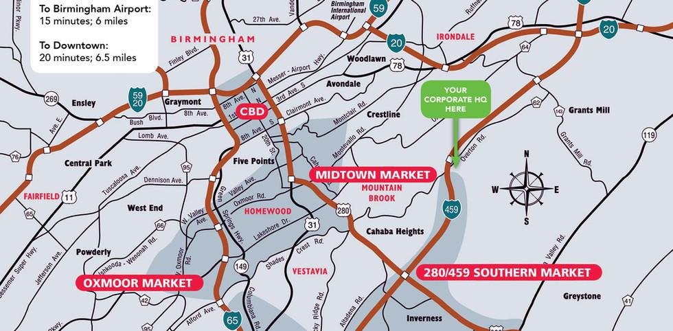 Birmingham Area Map