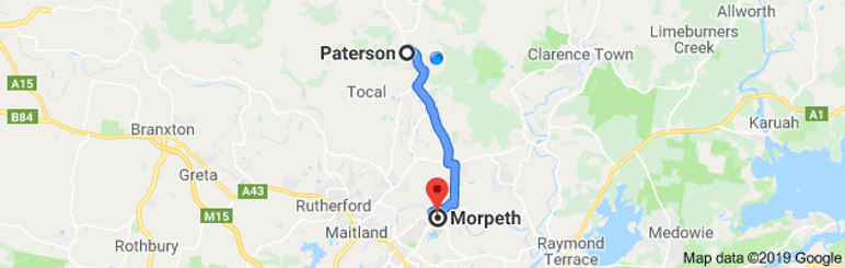 Paterson to Morpeth map.png