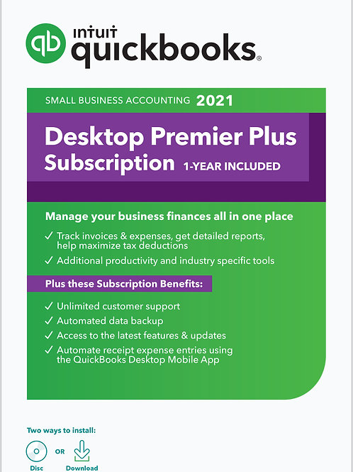 QuickBooks Desktop Premier Plus 2021