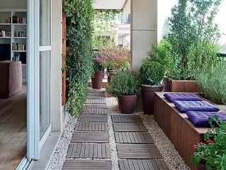 Jardim na sacada