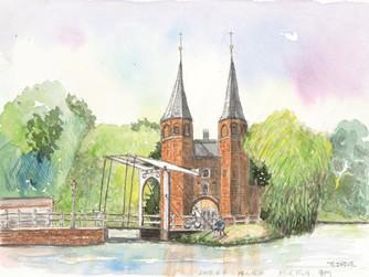 自主美術講座メンバー オランダ・スケッチ展〈運河の国を訪ねて〉