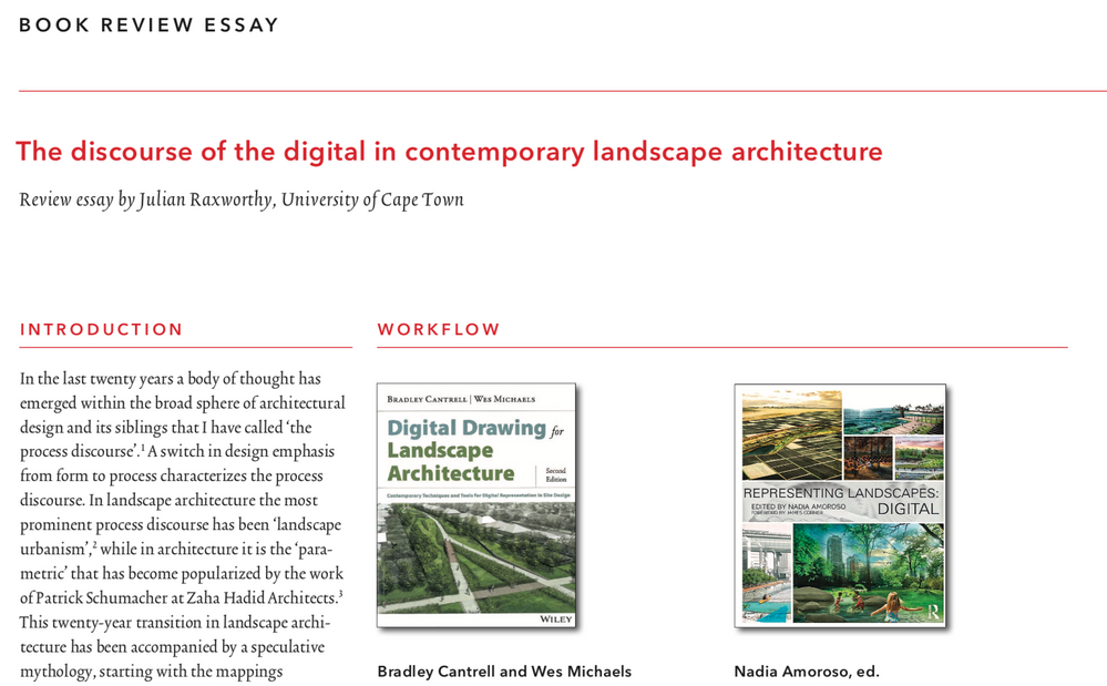 Book Reviews The Discourse Of The Digital In Contemporary Landscape Architecture