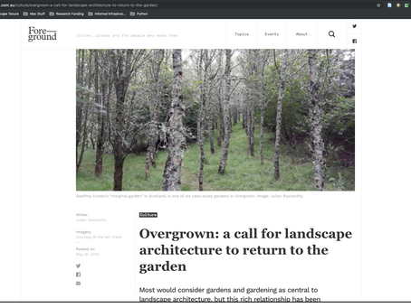 RESEARCH: Overgrown in Foreground